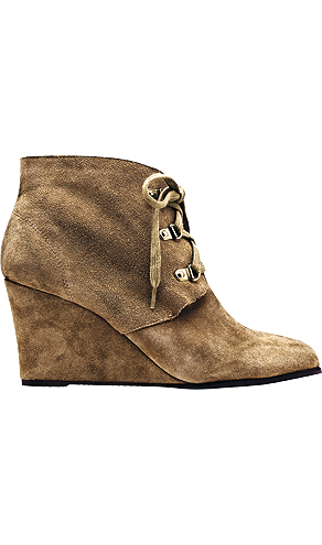 The wedge bootie