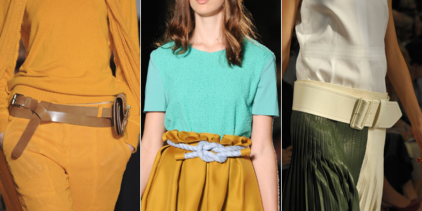 Spring 2012 fashion trends: Belts
