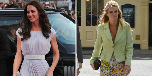 Style showdown: Kate Middleton vs. Cressida Bonas