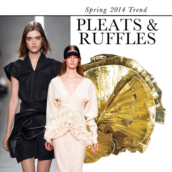 Pleats and ruffles: Top Spring 2014 fashion trend