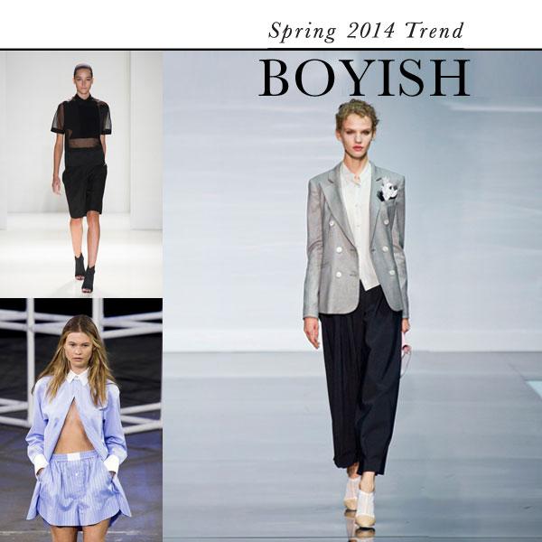 Boyish: Top Spring 2014 fashion trend