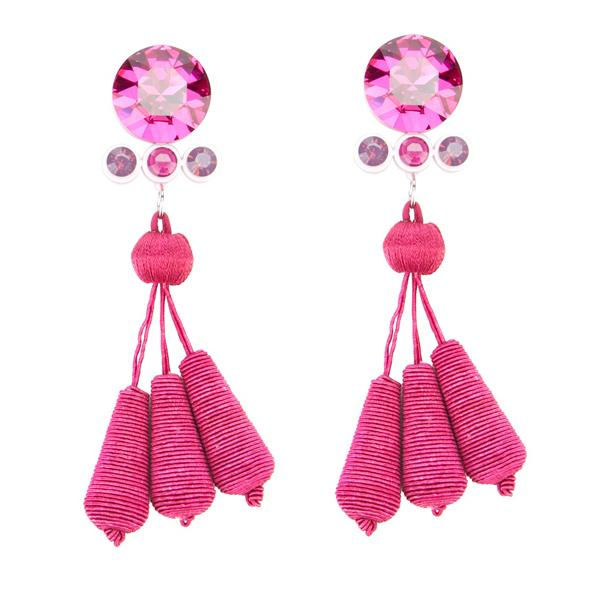 Radiant Orchid fashion trend: The earrings