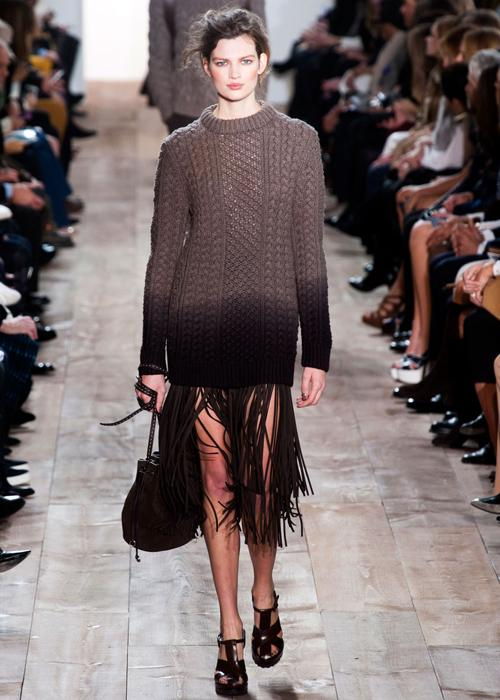 Fall 2014 fringe fashion trend: Michael Kors
