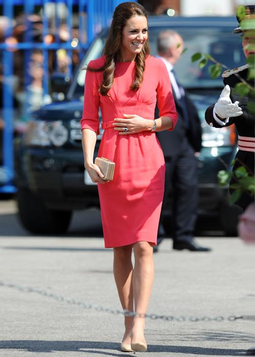 Kate Middleton style: The coral LK Bennett