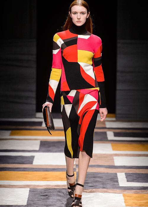 MFW Fall 2015 fashion trend: Geometric prints