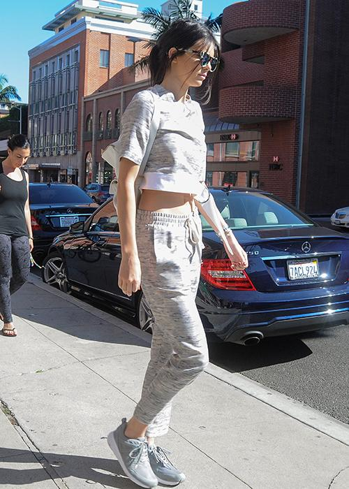 Luxe sweatpants: Kendall Jenner