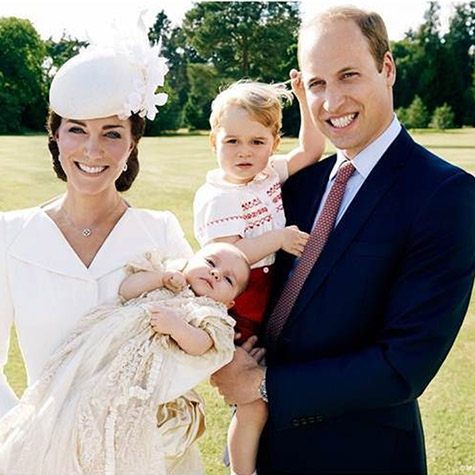 Can you handle the cute in the official portraits from Princess Charlotte's christening?