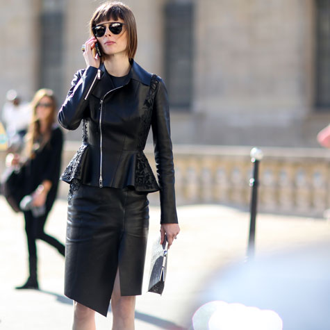 How to wear leather to work