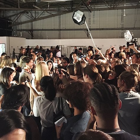 A look backstage at NYFW S/S 2016