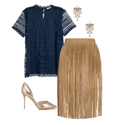 Give your office style a boho spin by wearing fringe to work