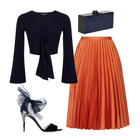 Is the pleated skirt the next big thing?