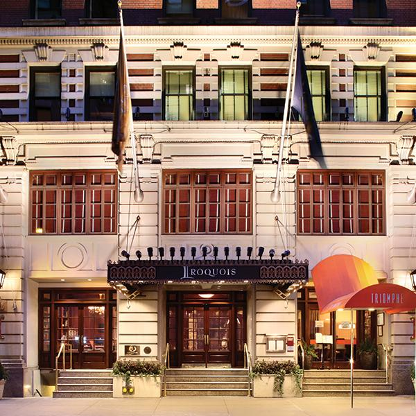 Where to go in New York during NYFW: The Iroquois Hotel
