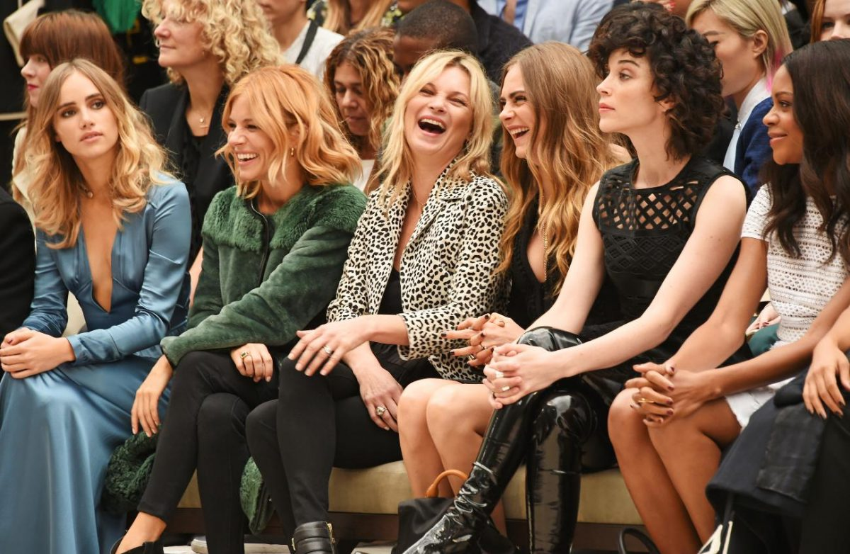 Celebrities in the front row at LFW