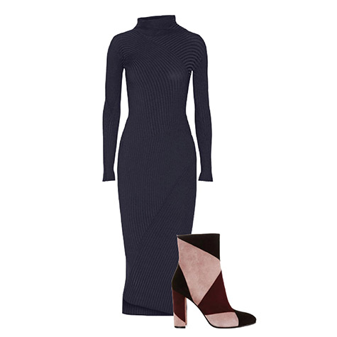 The best ankle boot and dress combos