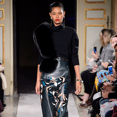 Runway inspired holiday party looks