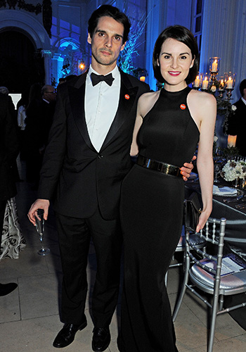 "Downton Abbey star Michelle Dockery ""devastated"" after fiance's death"