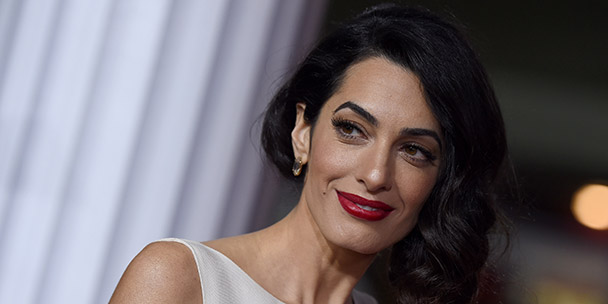 Amal Clooney is not impressed by The Donald