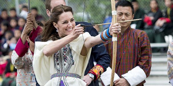 Kate Middleton had a major archery fail today