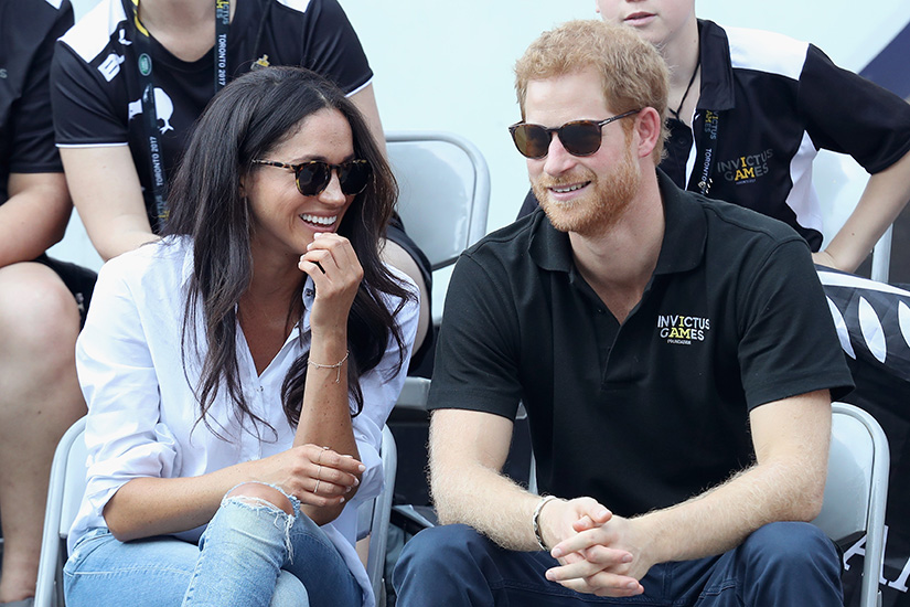 Prince Harry and Meghan Markle at the Toronto Invictus Games in 2017.