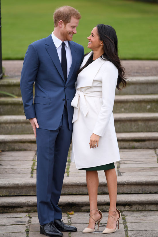 Prince Harry and Meghan Markle announce their engagement to the public.