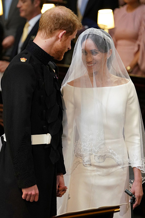Prince Harry and Meghan Markle at their wedding.