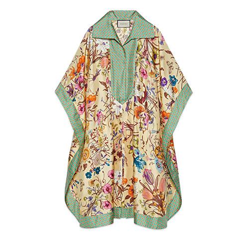 Gucci-Flora-print-silk-kaftan