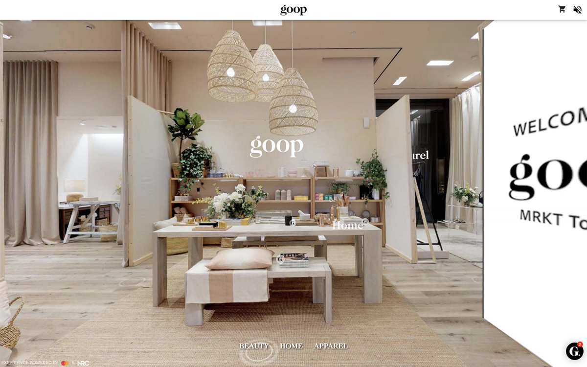 goop pop-up VR