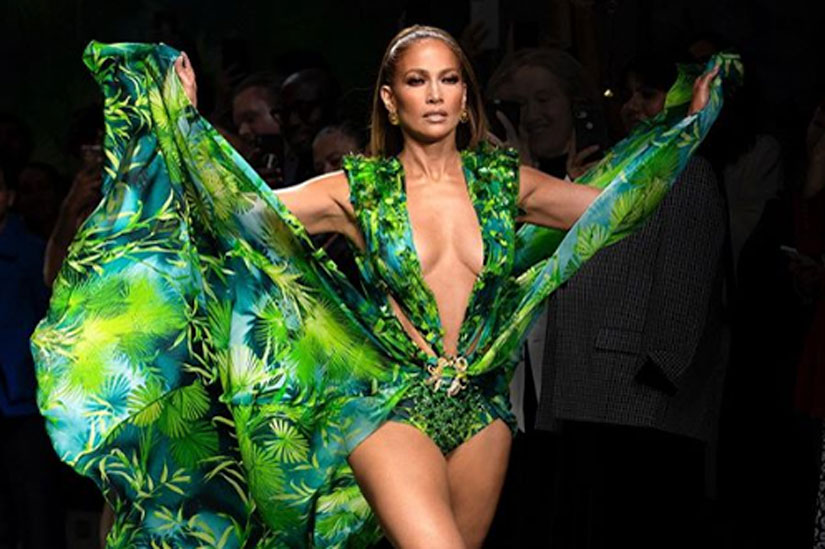 JLo-Versace-Runway-Green-Dress