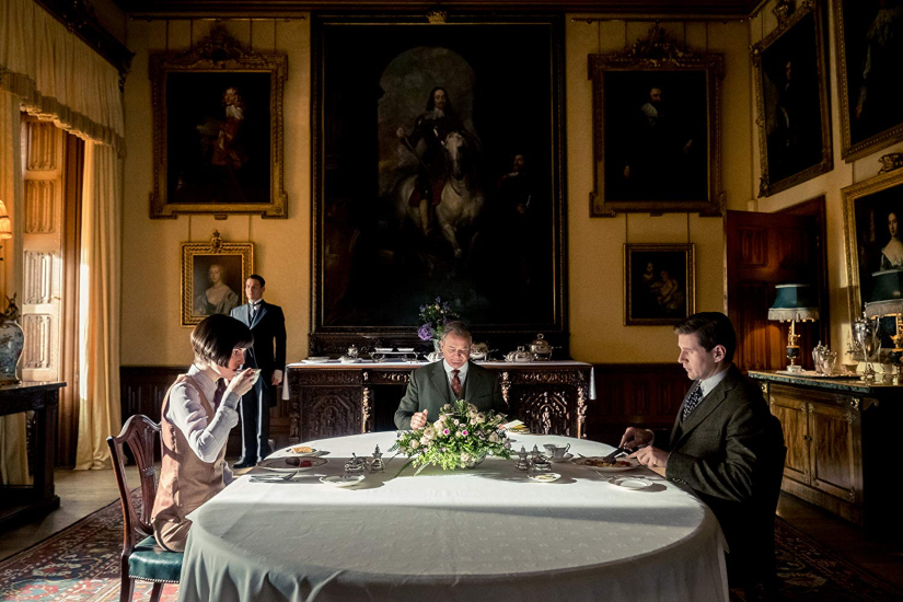 Michelle Dockery, Hugh Bonneville and Allen Leech in Downton Abbey
