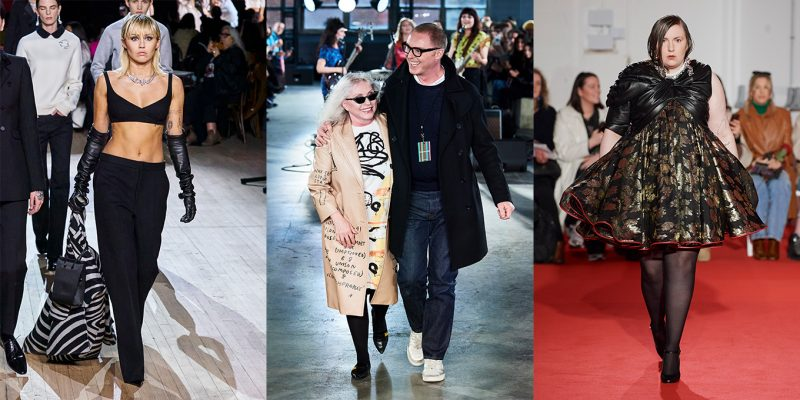 Celebrities walking the fall/winter 2020 runways.