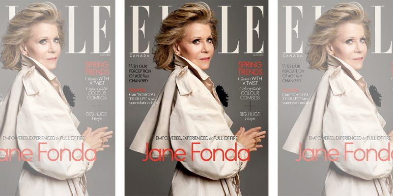 Jane Fonda on the March 2020 cover of ELLE Canada.