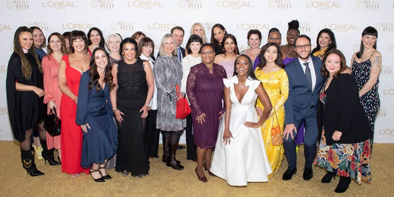 The 2020 L'Oreal Paris Women of Worth honourees.