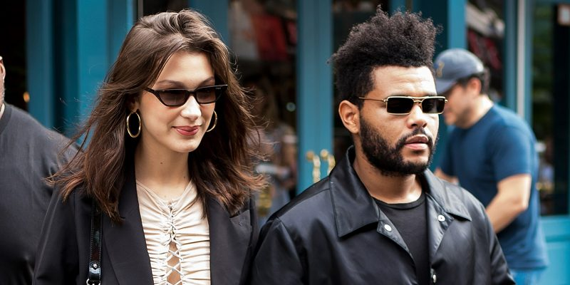 Bella Hadid and The Weeknd in 2018.
