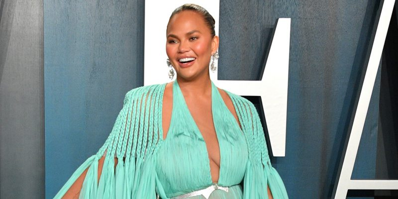 Chrissy Teigen at the 2020 Vanity Fair Oscar party.