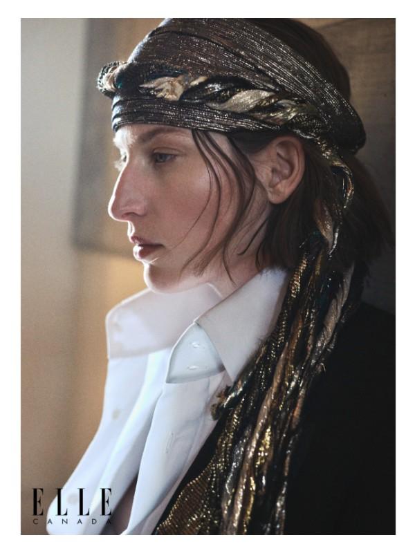 Silk turban and cotton shirt