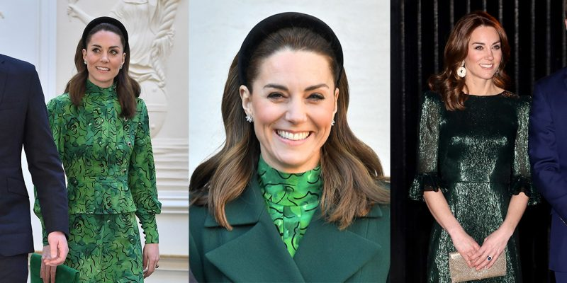 The duchess wore a lot of green on her tour of Ireland.