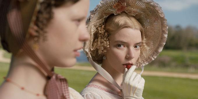 Anya Taylor-Joy and Mia Goth in Emma.