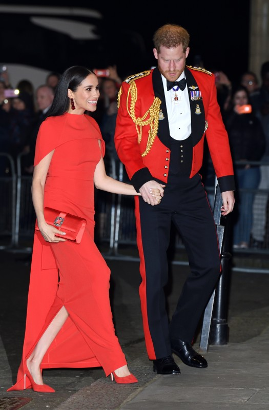 Meghan Markle and Prince Harry at one of their final events as senior members of the royal family.