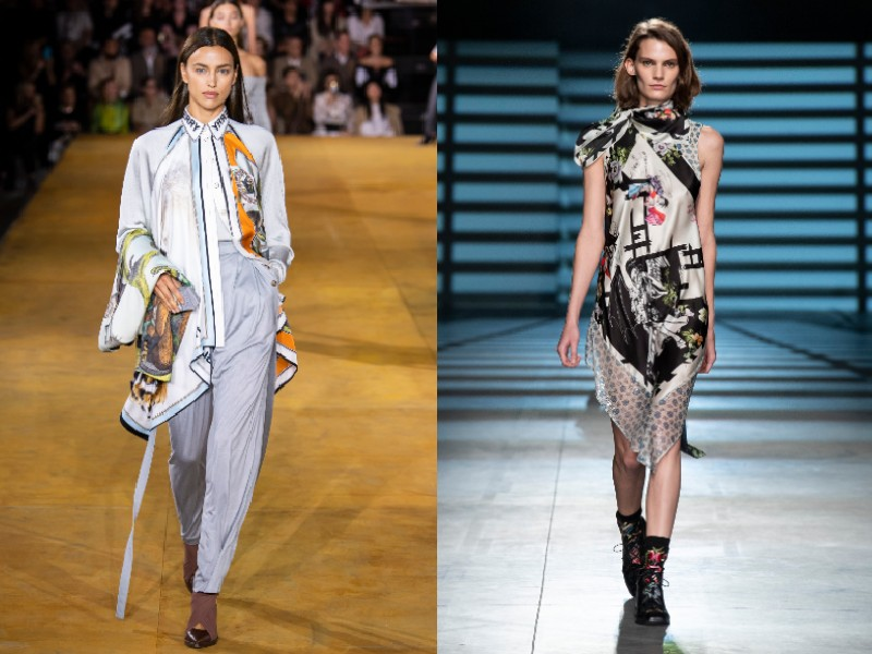 Models on the runway at Burberry and Preen by Thornton Bregazzi spring/summer 2020 collections.