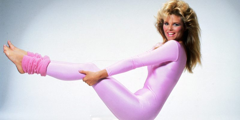 Christie Brinkley works out, 1982.