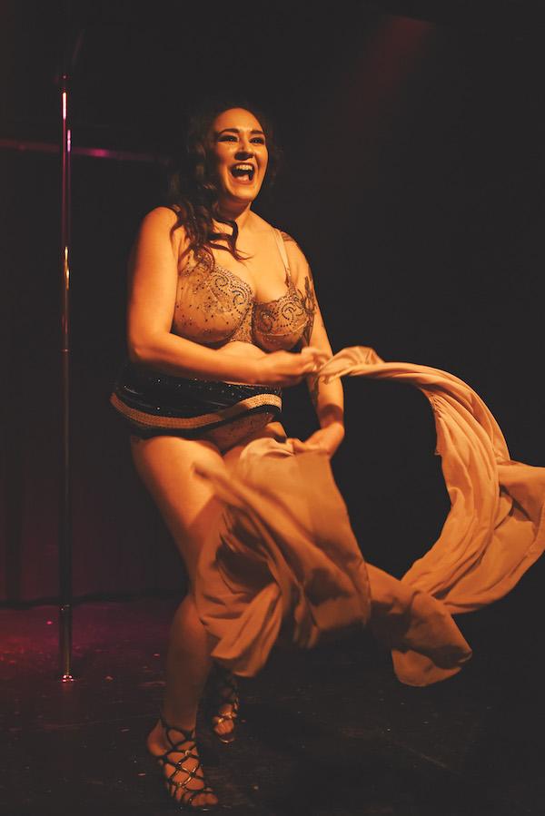 Burlesque dancer Scarlett Hummingbird. Photo by Lauren Sortome