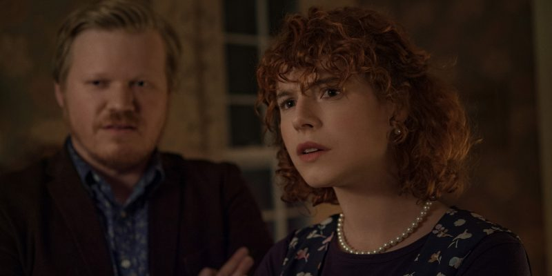 Jesse Plemons and Jessie Buckley in Netflix's I'm Thinking of Ending Things
