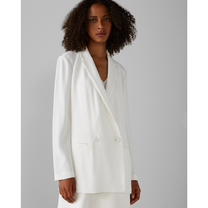 BLAZER IN ACETATE AND VISCOSE, CLUB MONACO