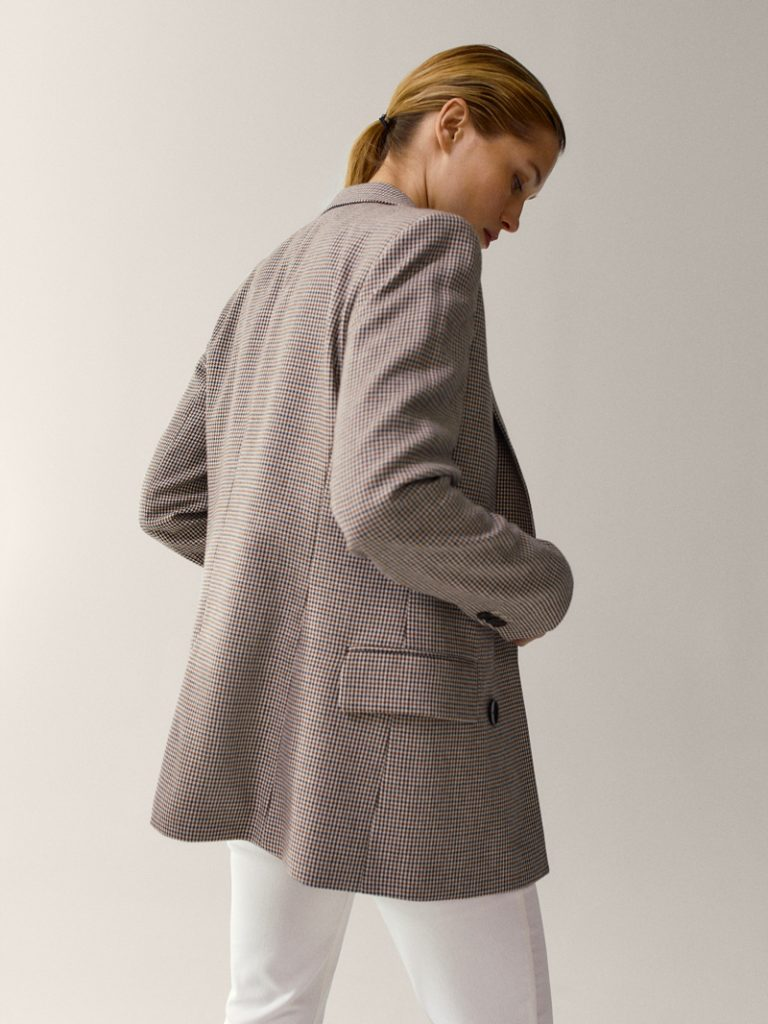 BLAZER IN VISCOSE AND WOOL, MASSIMO DUTTI