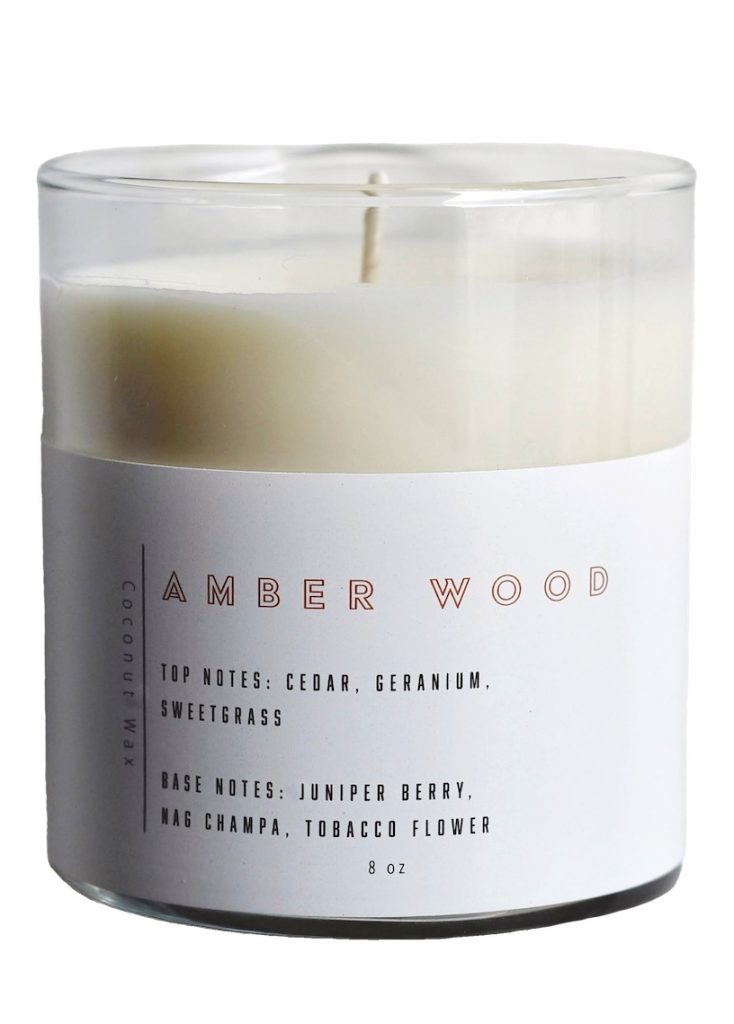 East City Candles in Amber Wood