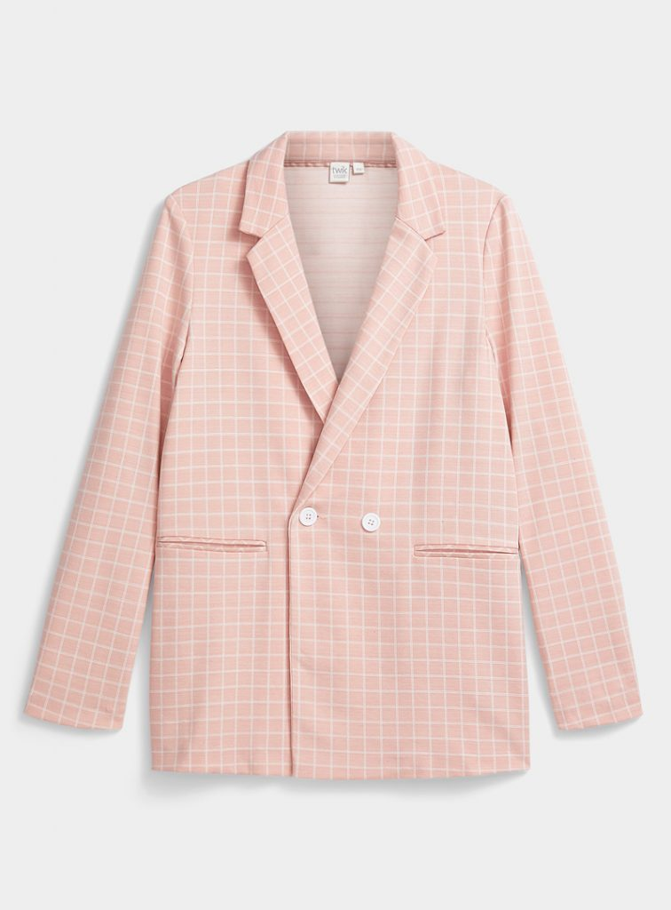 POLYESTER AND COTTON BLAZER, TWIK, AT SIMONS