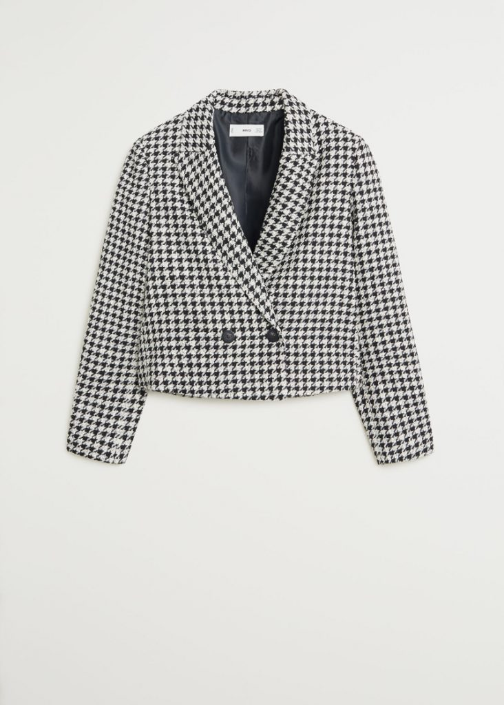 SHORT POLYESTER AND COTTON JACKET, MANGO