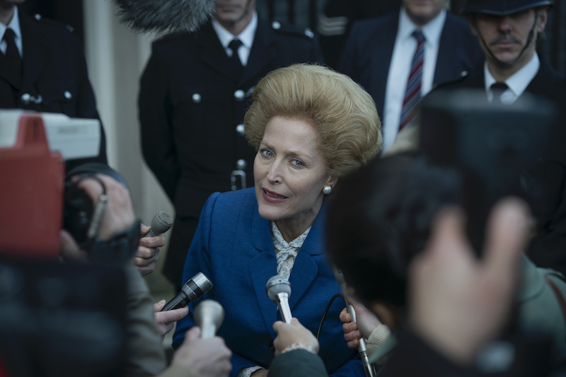 Gillian Anderson as Margaret Thatcher in season 4 of The Crown