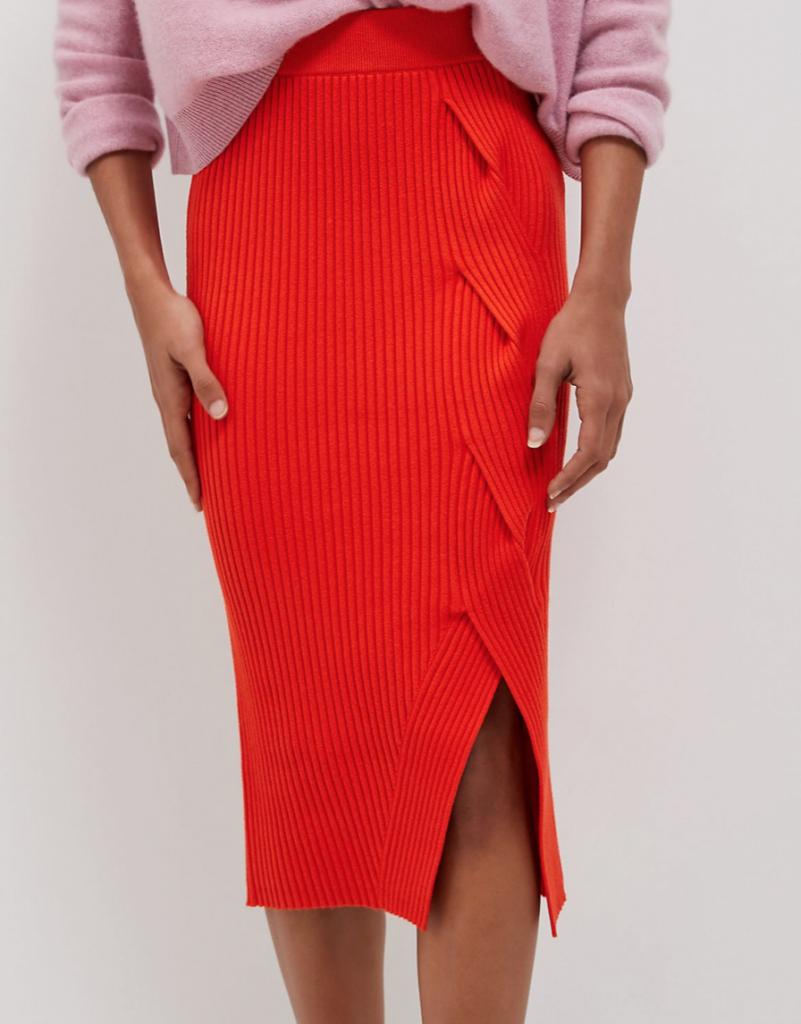 Anthropologie Desiree Knit Midi Skirt