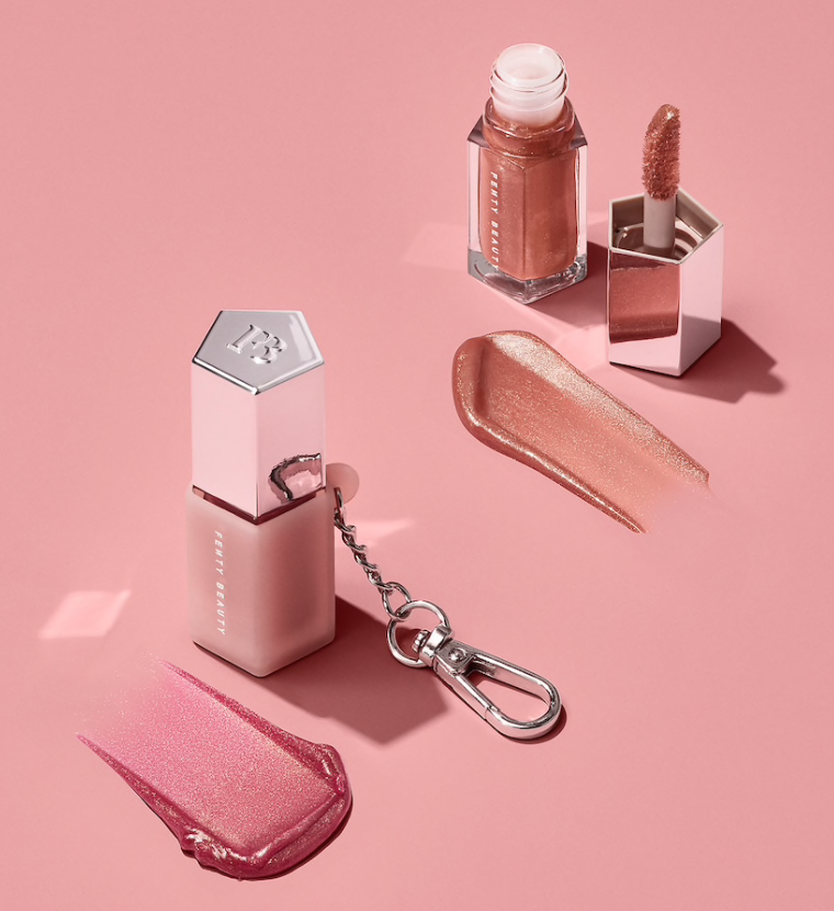 FENTY BEAUTY Lil Gloss Bombs: Mini Lip Duo + Keychain Holder
